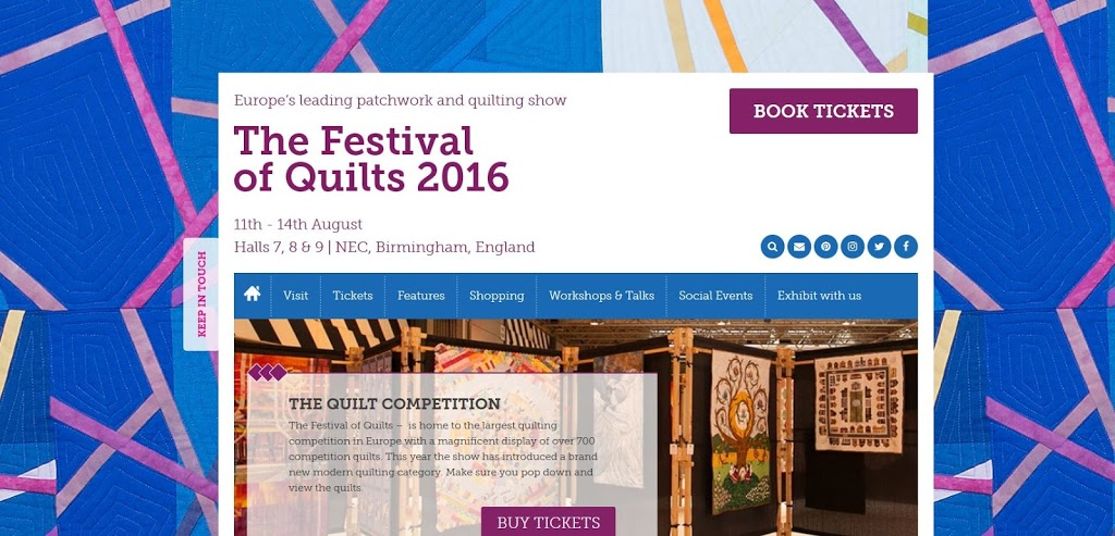 Off to the Festival of Quilts?