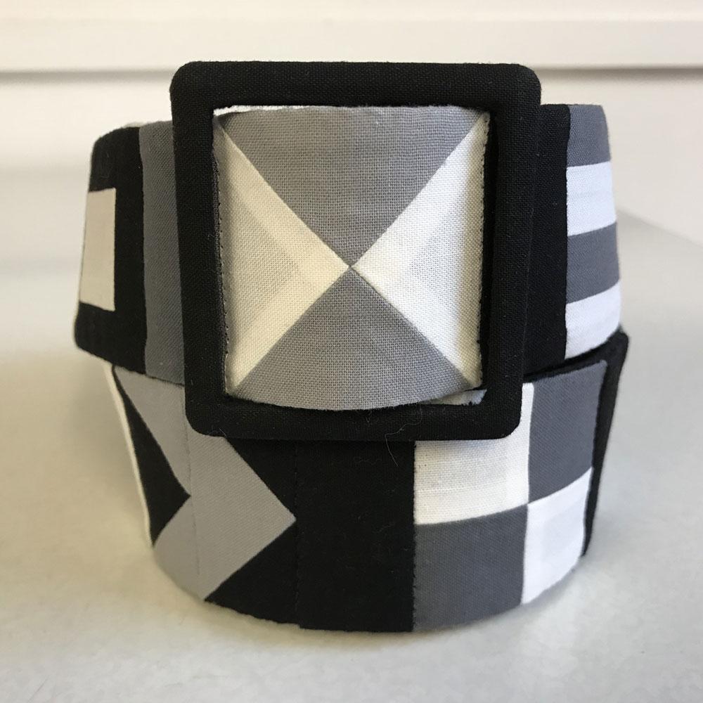 Belt made from patchwork design