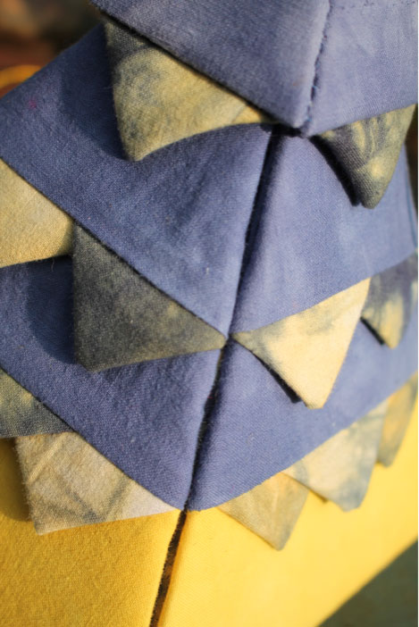 Textiles work produced by Gill Thompson on the School of Stitched Textiles course