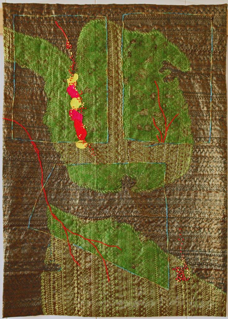 Into the Woods. Textiles art by Greta Huseboe