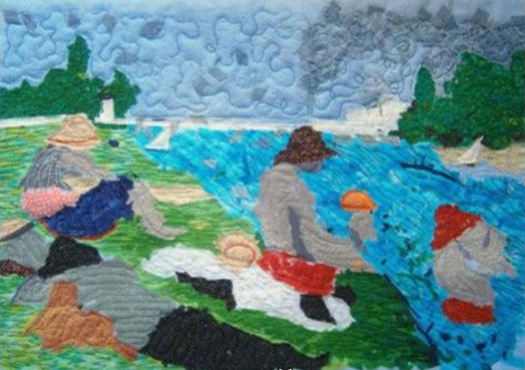 A beautiful scene patchwork quilt
