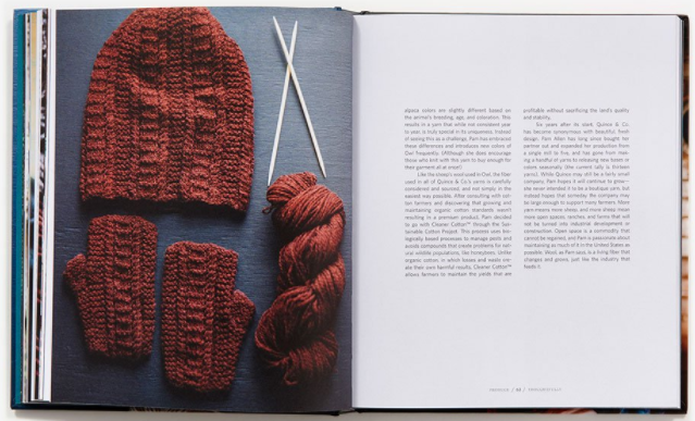 Inside preview of Slow Knitting book