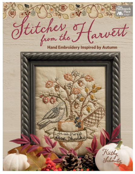 Stiches from the Harvest front cover design