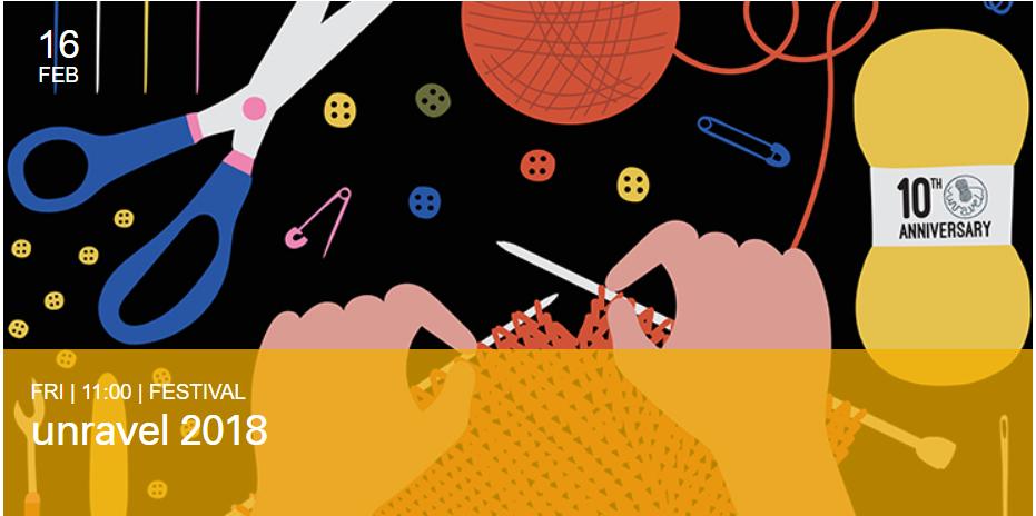 Unravel festival for knitting and crochet lovers