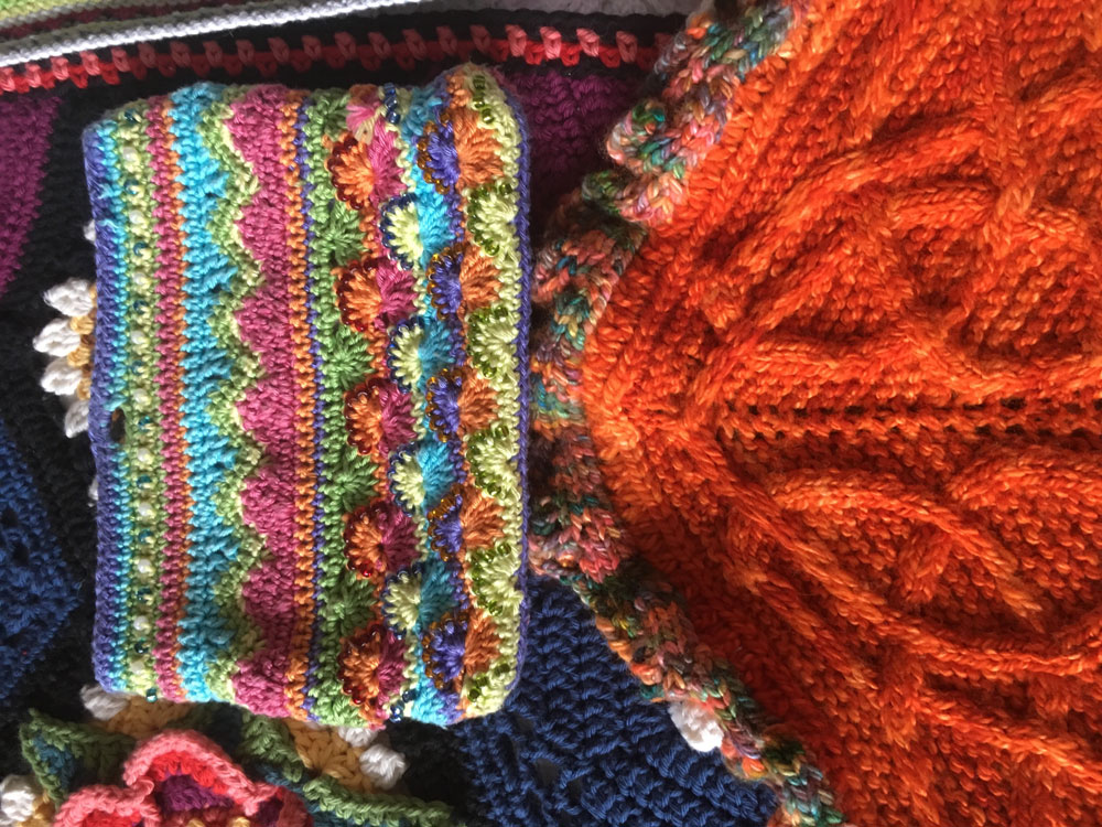 Collective works by SST Knitting and Crochet tutor Sally Hart