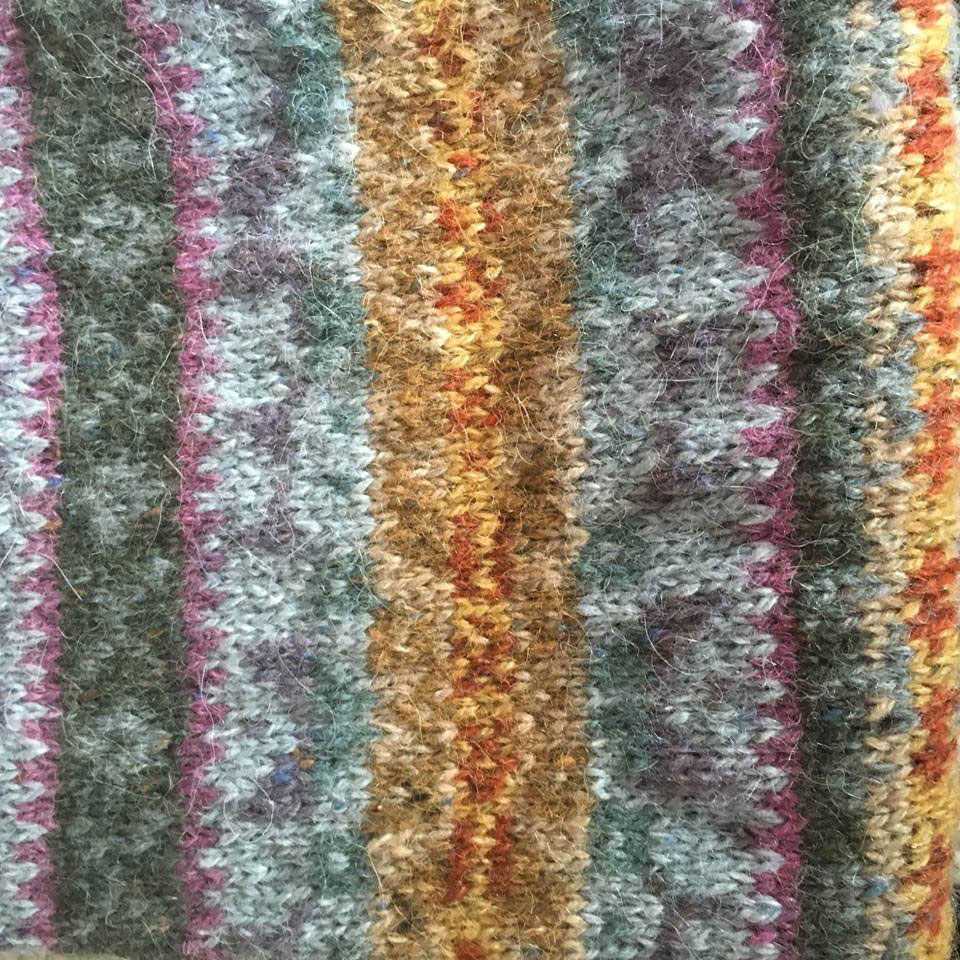 Fair Isle knitting by Sally Hart, our latest member of the team