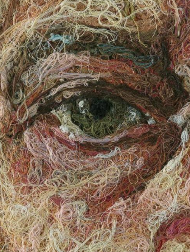 Embroidery that might have been inspired by Lucian Freud