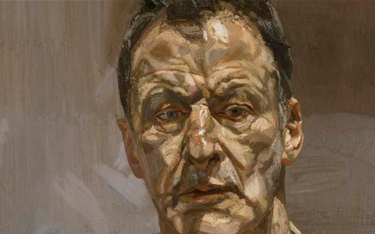 Lucian Freud reflection