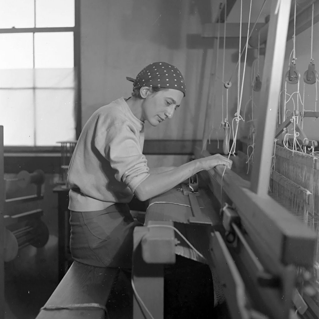 Anni Albers at the Loom