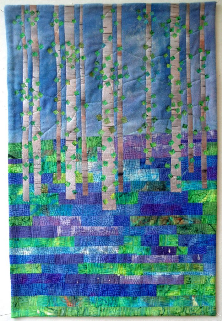 Bluebells patchwork project. Barbara Weeks explains what inspires her pieces