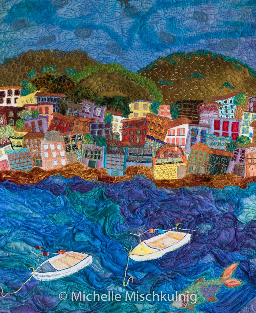 Conveying colour and movement in her work with machine embroidery