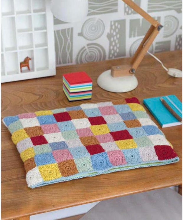 Creating Granny Squares with this delightful crochet book