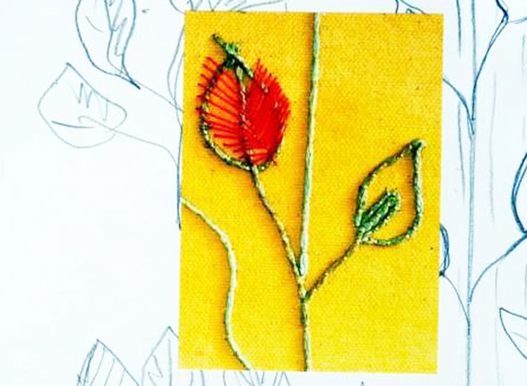 Hand Embroidery course skill stage 2 is perfect for beginners wanting to learn the basics of hand embroidery