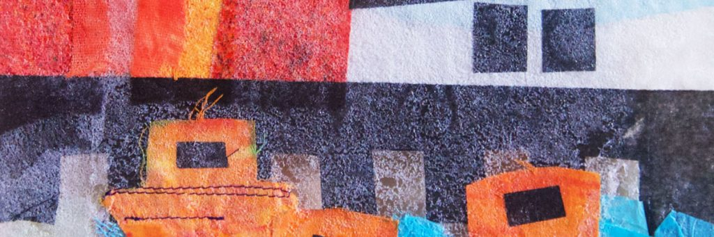 An online Machine Embroidery course for beginners, by the School of Stitched Textiles