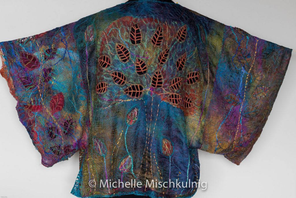 Hand dyed and hand stitched garment by Michelle Mischkulnig