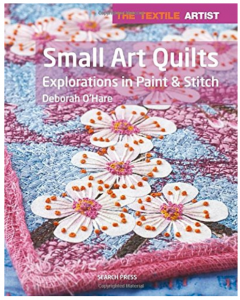 Small Art Quilt exploration in paint and stitch