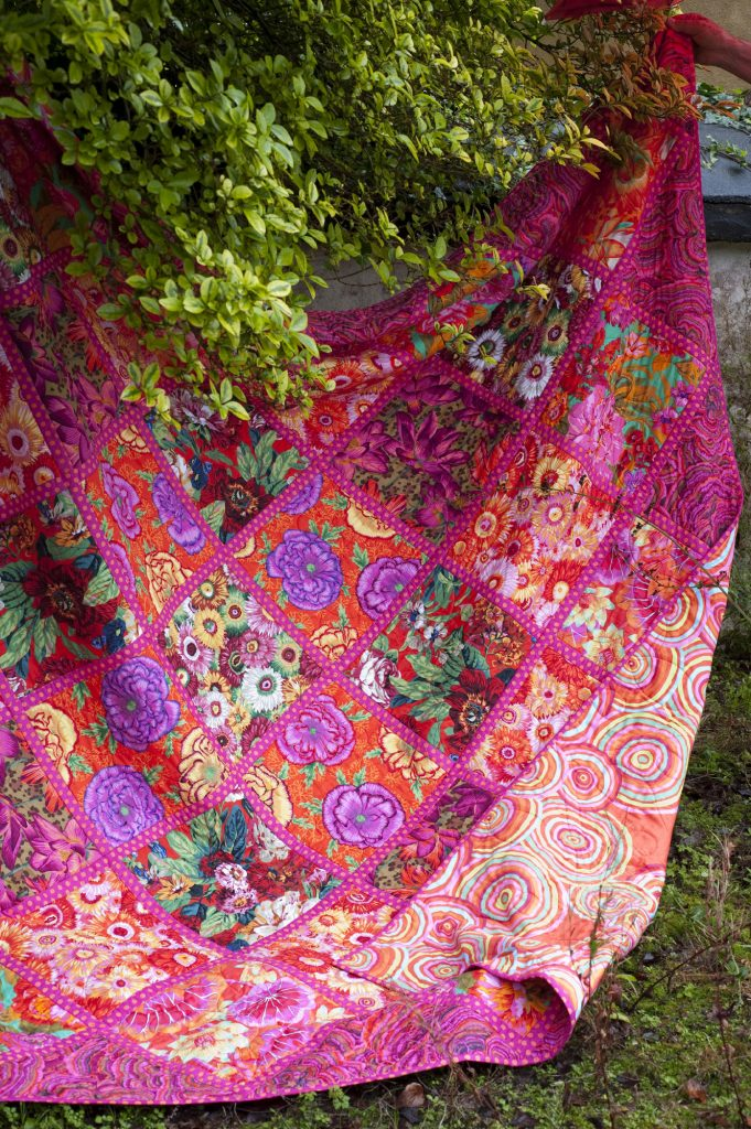 Kaffe Fassett's Chelsea Squares , taken by Debbie Patterson for the book Quilts in Ireland