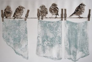 Dirty Laundry by Sue Brown printmaker and textiles artist