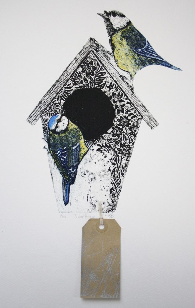 Inspired by birds and nature Sue Brown concentrates on creating prints based on the things that inspire her the most