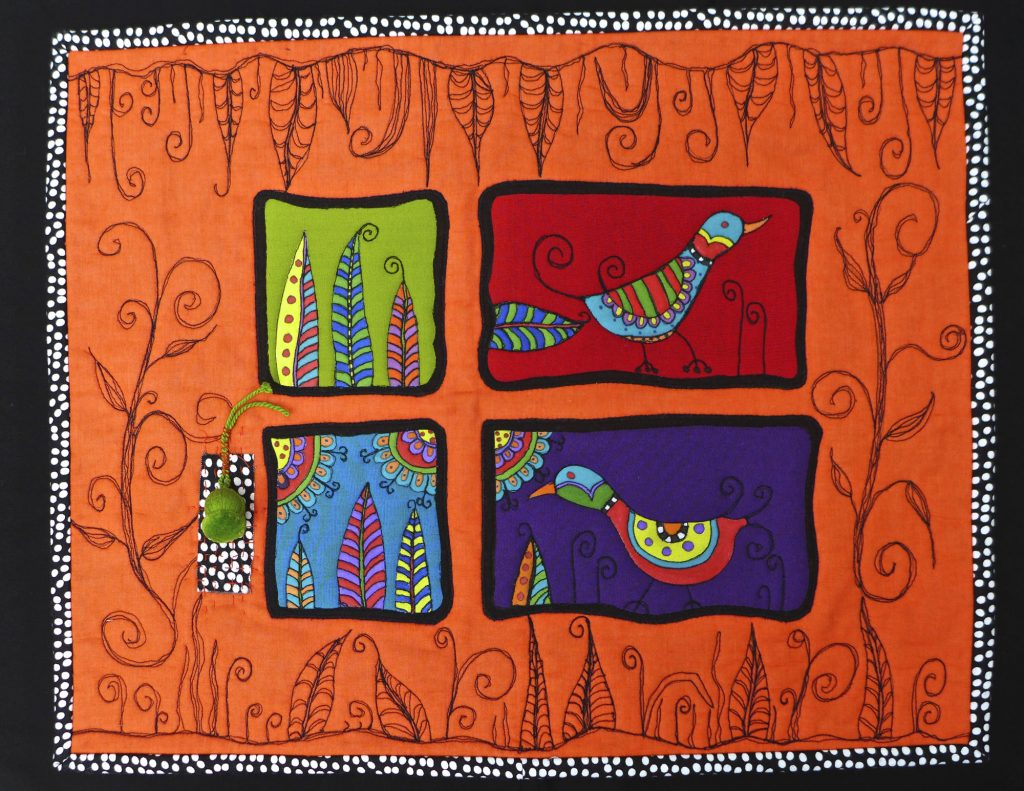 Machine Embroidered quilt by Pam Holland