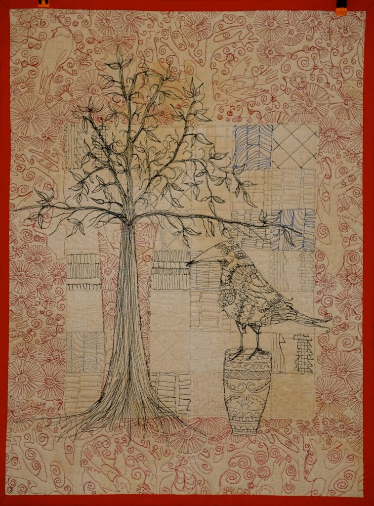 Illustrative quilt by Pam Holland