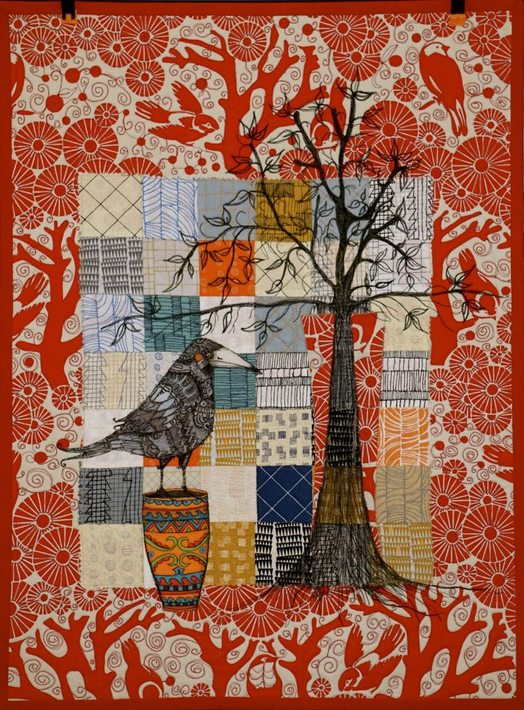 Multi-media quilt by Pam Holland