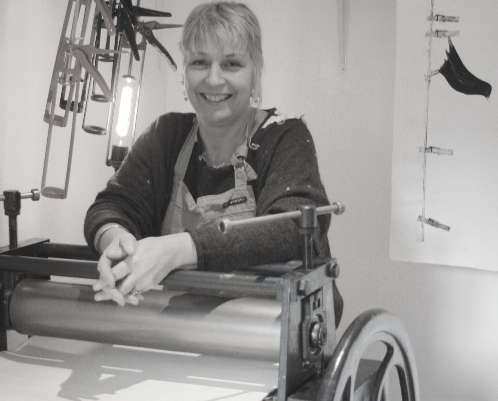 Sue Brown prinmaker and textiles artist