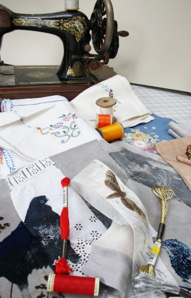 Sue Brown's creative workspace