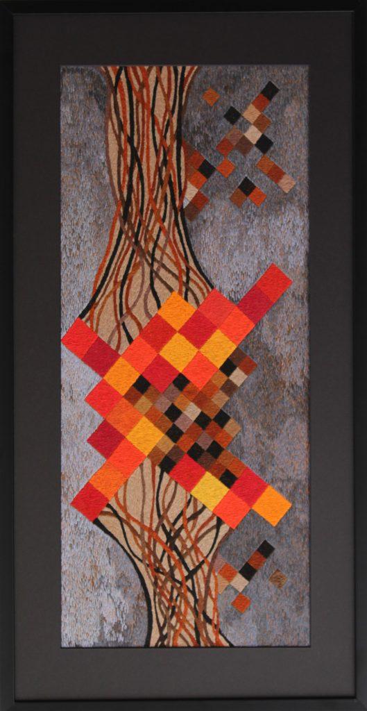Above Ground, by textiles artist Victoria Potrovitza