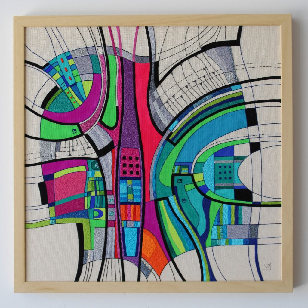 Narrow Passage by fibre artist Victoria Potrovitza