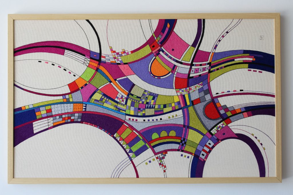 Open Roads by textiles artist Victoria Potrovitza