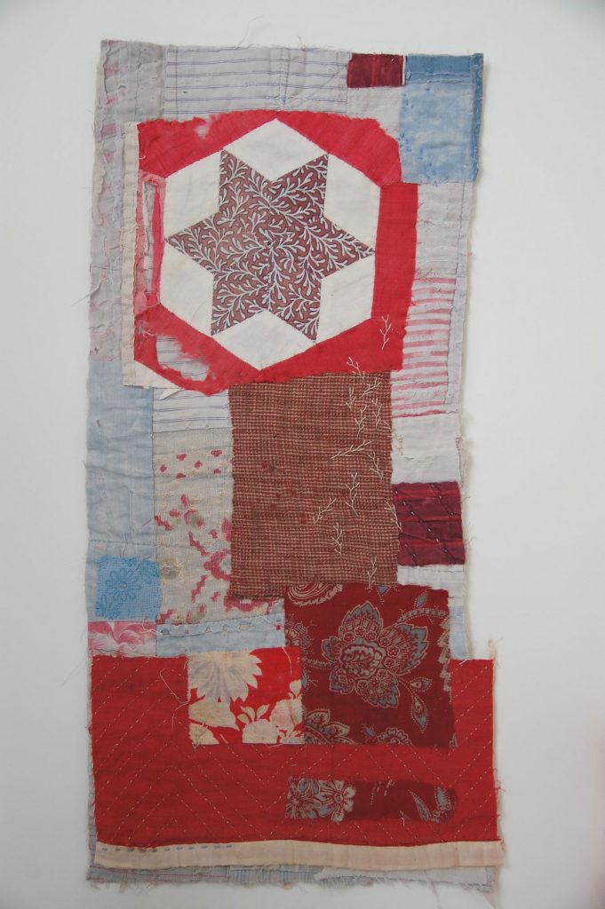 collages from recyled patchwork pieces by Mandy Pattullo