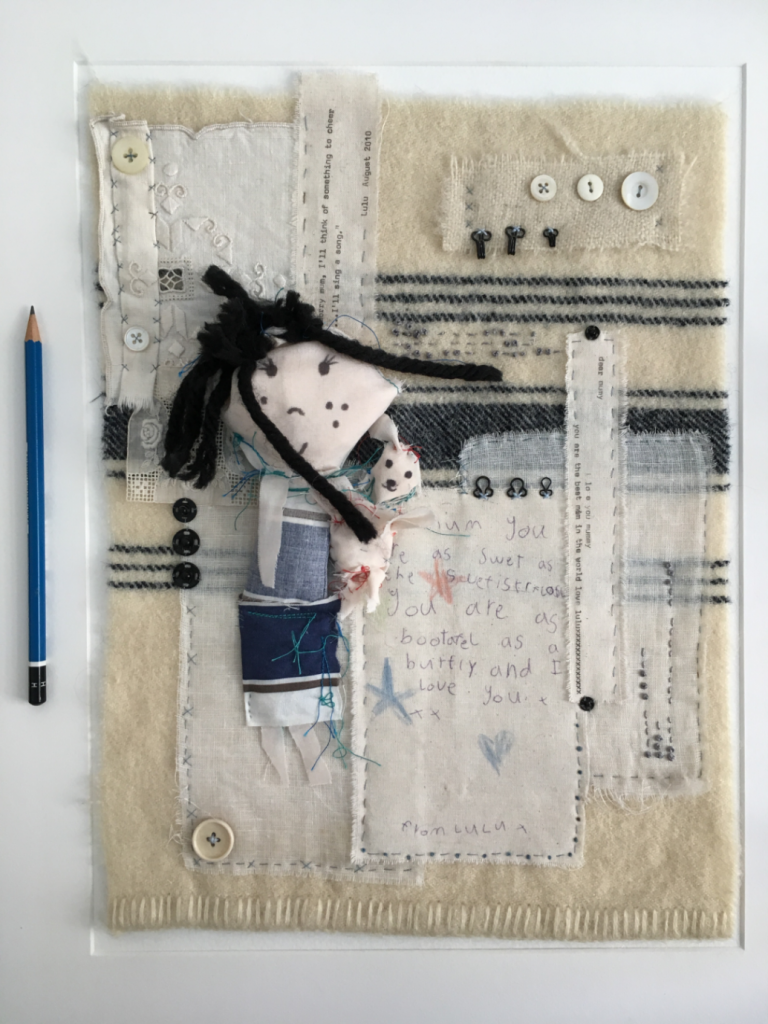 A felted creation by Morven Jones, shortlisted for the creative bursary at the School of Stitched Textiles.