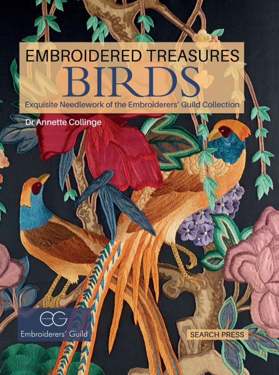 Embroidered Treasure: Birds front cover featured by the School of Stitched Textiles