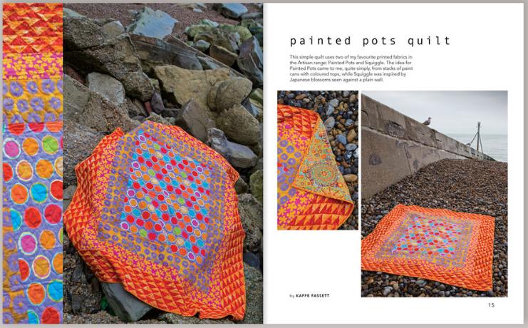 Inside page from Kaffe Fassett's Sew Artisan Book