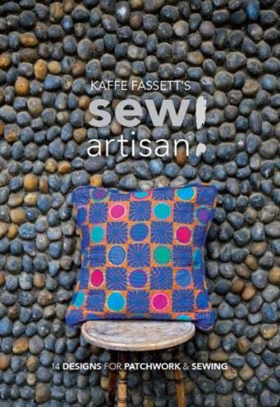 Front cover of Kaffe Fassett's Sew Artisan Book