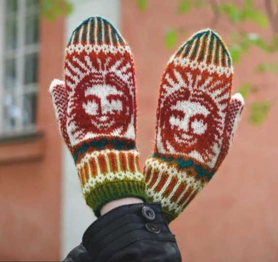 A unique pattern from 'Wild Mittens and Unruly Socks'