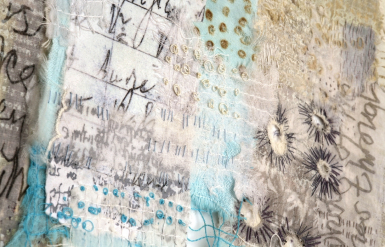 The detail of Only five percent by mixed media artist Shelley Rhodes