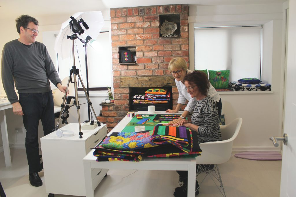 On the set of our latest Patchwork Beginner Course