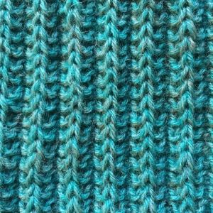 Knitted sample produced on our knitting course