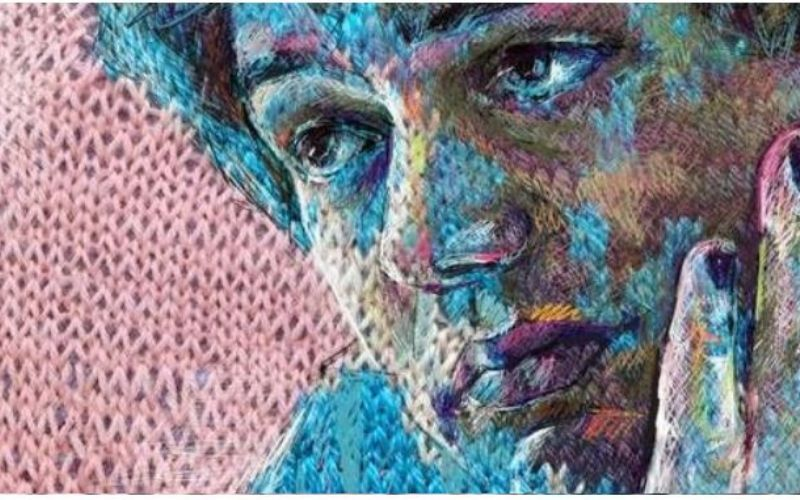 Knitted Portrait by Faith Humphry Hill
