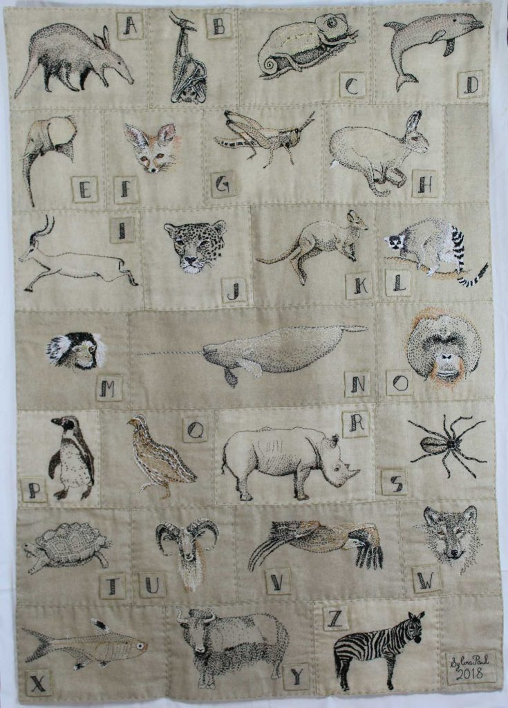'A-Z Wall Hanging' from the collection WILD by Sylvia Paul