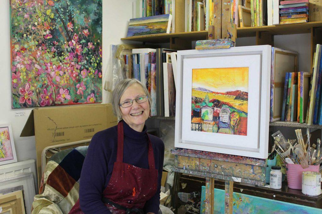 Sylvia Paul in her studio in 2018