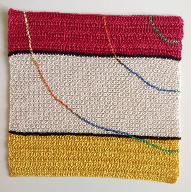 crochet assessment piece by Jolanta Urbaitiene