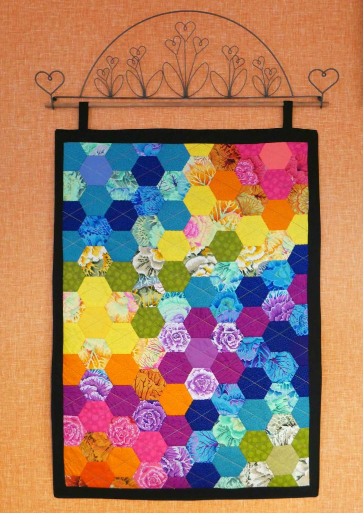 Hexagon wall hanging by Rebecca Tickle