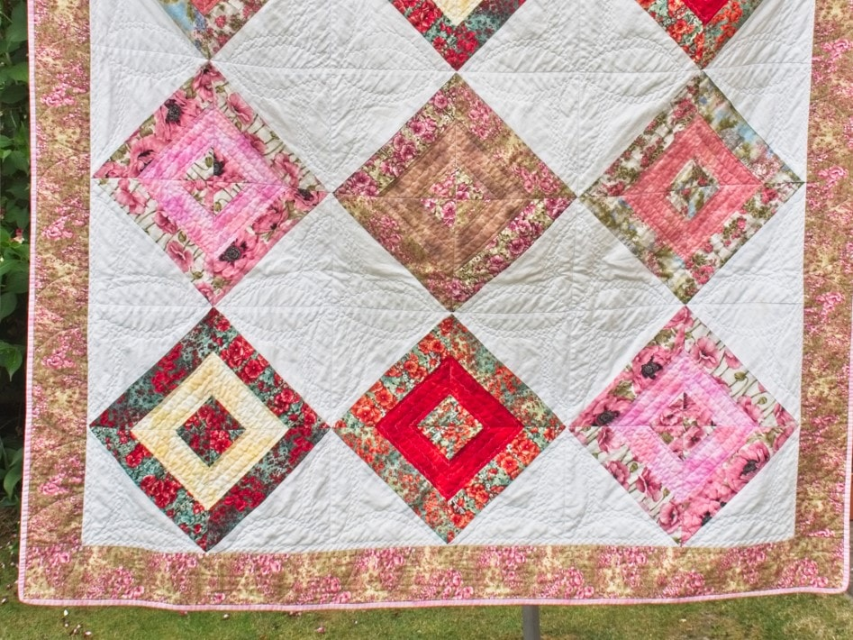 A quilt by School of Stitched Textiles graduate, Karen Foley