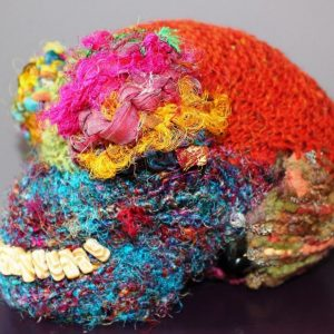 Knitted skull project by SST student