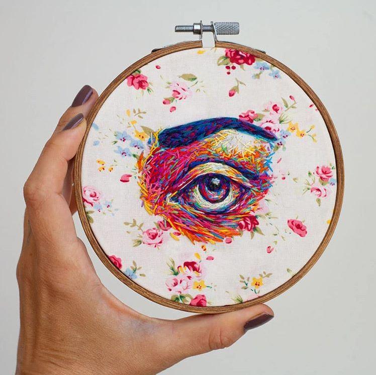 Danielle Clough embroidery art