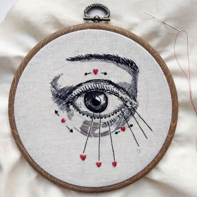 Julie Campbell embroidery