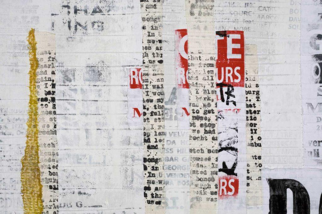 White Wall 3, detail (102x102 cm)